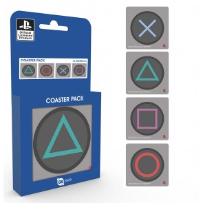 Playstation One Untersetzer Buttons 4-er Pack
