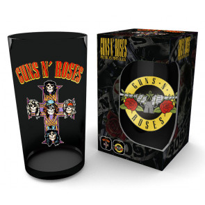 Guns N´ Roses Premium Glas Logo