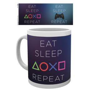 Sony PlayStation Tasse Eat Sleep Repeat
