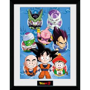 Dragonball Z Poster im Rahmen Chibi Characters 45 x 34 cm