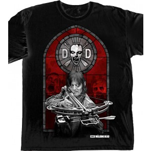 The Walking Dead T-Shirt Daryl Dixon Stained Glass