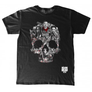 The Walking Dead T-Shirt Skull Montage