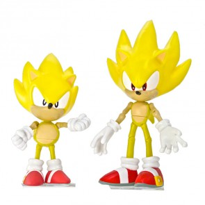 Sonic the Hedgehog Actionfiguren Doppelpack 20th Anniversary Sonic Modern & Classic 13 cm