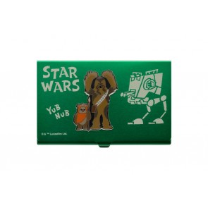 Star Wars Visitenkarten-Halter Chewbacca & Wicket 10 cm
