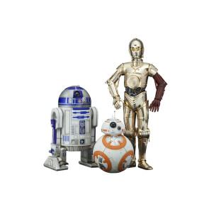 Star Wars VII C-3PO & R2-D2 & BB-8 3-Pack 1/10 Statuen