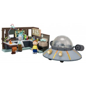 Rick and Morty Large Bauset Spaceship & Garage