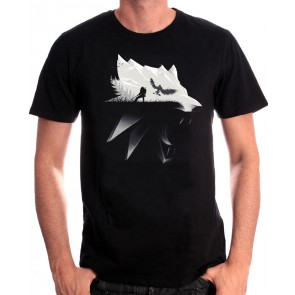 Witcher T-Shirt Wolf Silhouette