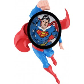 Superman 3D Motion Wanduhr Swinging Superman