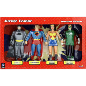Justice League Biegefiguren 4er-Pack 14 cm