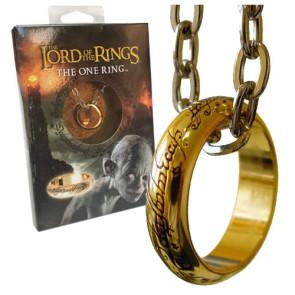Herr der Ringe Ring Der Eine Ring (vergoldet) Größe 10