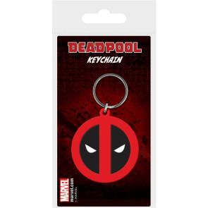 Marvel Comics Gummi-Schlüsselanhänger Deadpool Symbol 6 cm