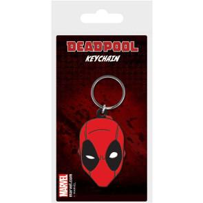 Marvel Comics Gummi-Schlüsselanhänger Deadpool Face 6 cm