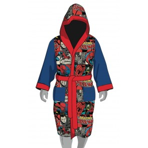 Spider-Man Fleece-Bademantel All Over Design