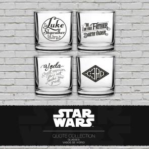 Star Wars Trinkgläser 4er-Pack Famous Quotes