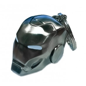 Marvel Comics Metall-Schlüsselanhänger Iron Man Helm Mark II