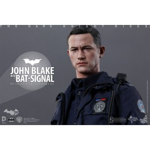 Dark Knight Rises John Blake with Bat-Signal Movie Masterpiece 1/6 Actionfigur 30 cm