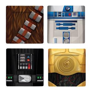 Star Wars Untersetzer 4er-Pack Characters